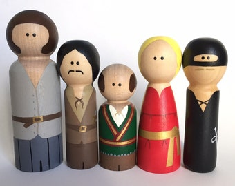 The Princess Bride Inspired Peg Dolls - Peg Toys - Peg Dolls - Wooden Pegs