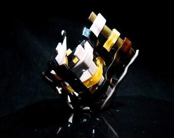 Woodland Amber Woven Glass