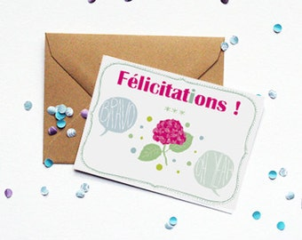 "Card ""Congratulations"" - kraft envelope"