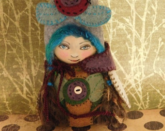 ooak art doll, wood peg doll, gnomes, folk art, collectable art dolls