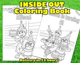 INSIDE OUT COLORING Book Inside Out Printable