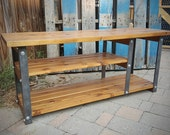 Reclaimed Wood Modern Industrial Media Console