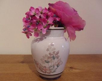 Vintage Denby Romance Vase - Floral Design