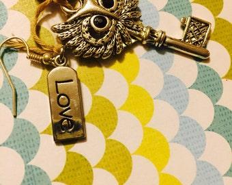 Key2 Owl Love Earrings