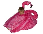 Flamingo bean bag chair with blanket wings with leg stand or without leg stand