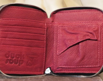 Leather Wallet, Red DS109