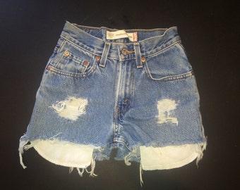 Childrens size 12 slim  High-Waisted Shorts- Item #006