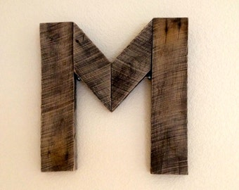 Reclaimed Wood Letter for Wall Decor
