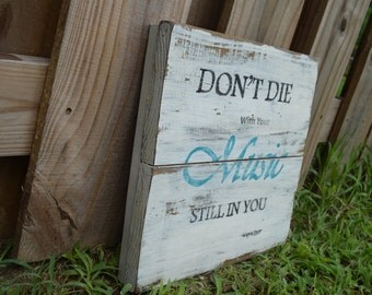 Rustic wooden distressed sign
