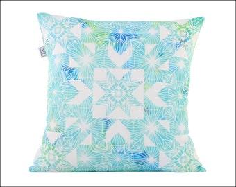 Blue geometric pillow cover/Original design/Cushion Cover/Geometric cushion /Blue cushion/Home Decor/Geometric pillow cover/Throw pillow