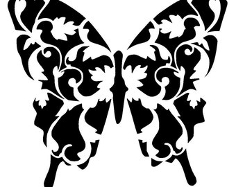 "12/12"" Vintage butterfly stencil 2."