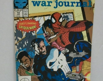 1989-90 The Punisher War Journal #14 Jan Guest: The Amazing Spiderman  VF-NM Unread  Marvel Comic Book