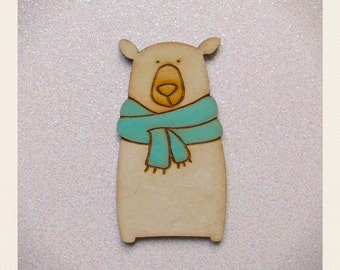 Bear with scarf Brooch