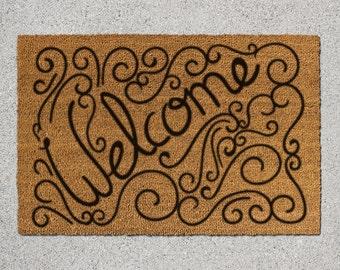 Welcome Doormat, Welcome Door Mat, Welcome Mat, Doormat, Door Mat, Handwritten Welcome Mat, Welcome