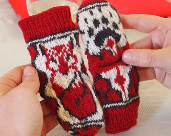 Woodland Knit Fox Socks Pattern for Infant Size 3 - 6 months Instant Download