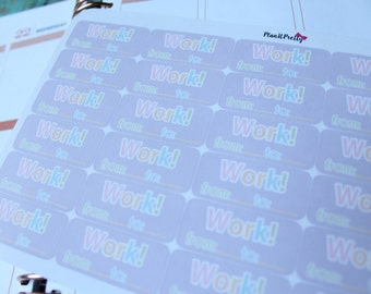 Purple Pastel Work Stickers 30 count for your Erin Condren Life Planner