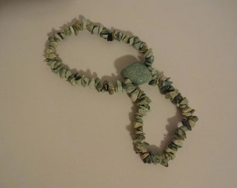 Light Green Chunky Gemstone Bracelet