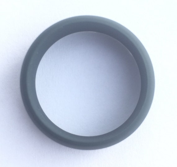Men's Silicone Wedding Band Ring Grey Or By