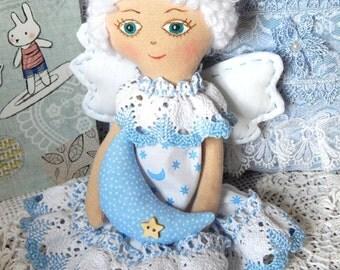 Fabric angel, doll Angel, Cloth doll, Handmade angel, Kids eco friendly, Organic baby gift