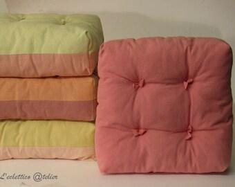 Decorative pillow Marshmallow, rustic cotton