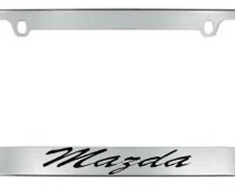 Mazda Script License Plate Frame