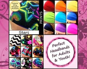 Hair Wrap Headband Basketball Sport Tennis Volleyball Yoga Lacrosse [Stars]