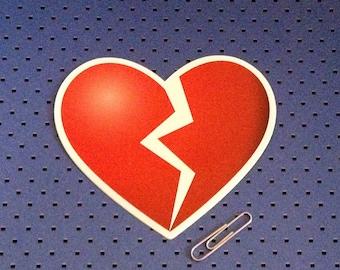 Broken Heart Bumper Sticker