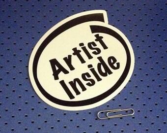 Artist Inside Bumper Sticker