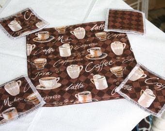 Cafe Cozy Pad and Coaster Set