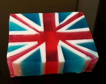 Union Jack Soap, England Flag Soap