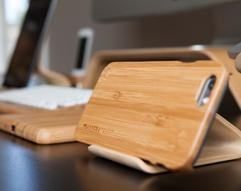 Black Walnut Phone Holder - Desk Collection