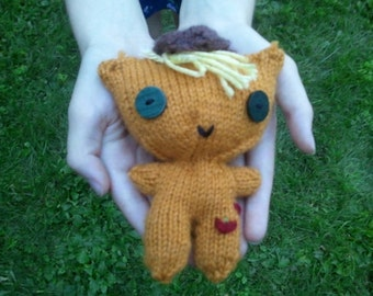 Apple Jack Doll: Handknit My Little Pony Doll Apple Jack Doll Brony Pegasister