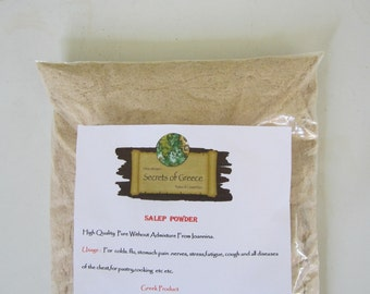 100% High Quality Greek Pure  Salep Powder  Without Admixture From Ioannina.