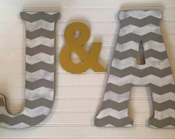 Personalized Wood Letter, Wood Home Decor, Wooden Letters