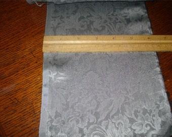 100% Silk Jacquard - Silver