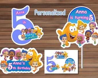 Bubble Guppies Centerpiece, Personalized, Printable, PDF