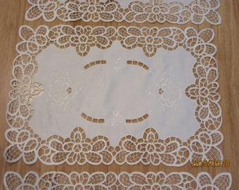 White Cut Out Place Mats from Cyprus