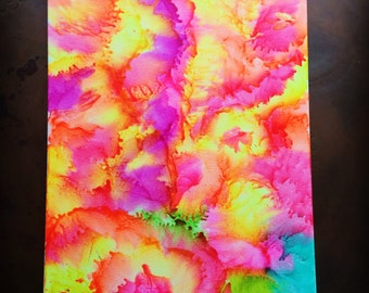 Melted crayon art 16x20 canvas