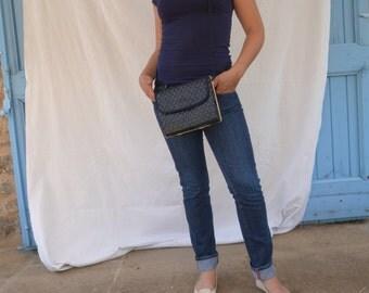 60's Dark Blue shoulder bag