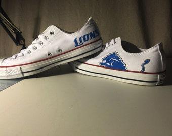Hand Painted Detroit Lions Shoes