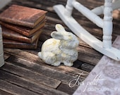 Vintage Cast Iron-style Bunny-White for Dollhouse