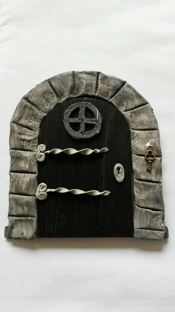 Fairy door gothic door fairy house fairy accessories for Elf door accessories