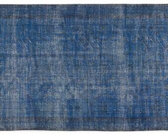 Vintage Blue Turkish Carpet - 257cmX160cm