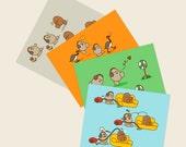 Eggman Comics Set of 4 Postcards