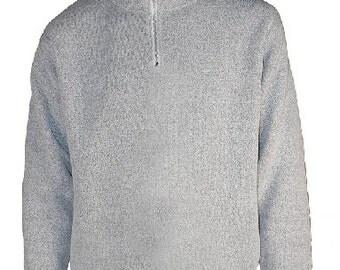1/4 Zipper Nantucket Crew Neck Sweater