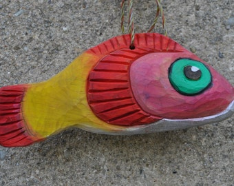 Pink gold mullet, wood fish