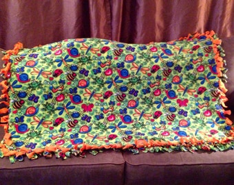 SALE ~~~This dragon fly fleece blanket is perfect for the child who is in between  an child and teen