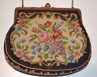 Antique Cross-Stitch Purse