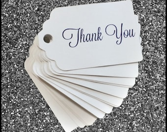 "PRINTED ""Thank You"" Hang Tags 50 COUNT"
