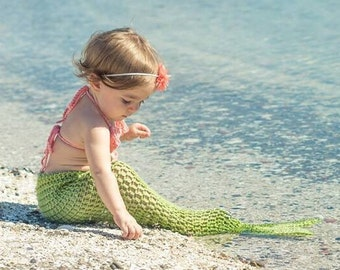 Baby Mermaid Costume, Newborn Mermaid Costume, Baby Mermaid Tail, Mermaid Set, Infant Mermaid Tail, Baby Halloween Costume,  Kids Mermaid